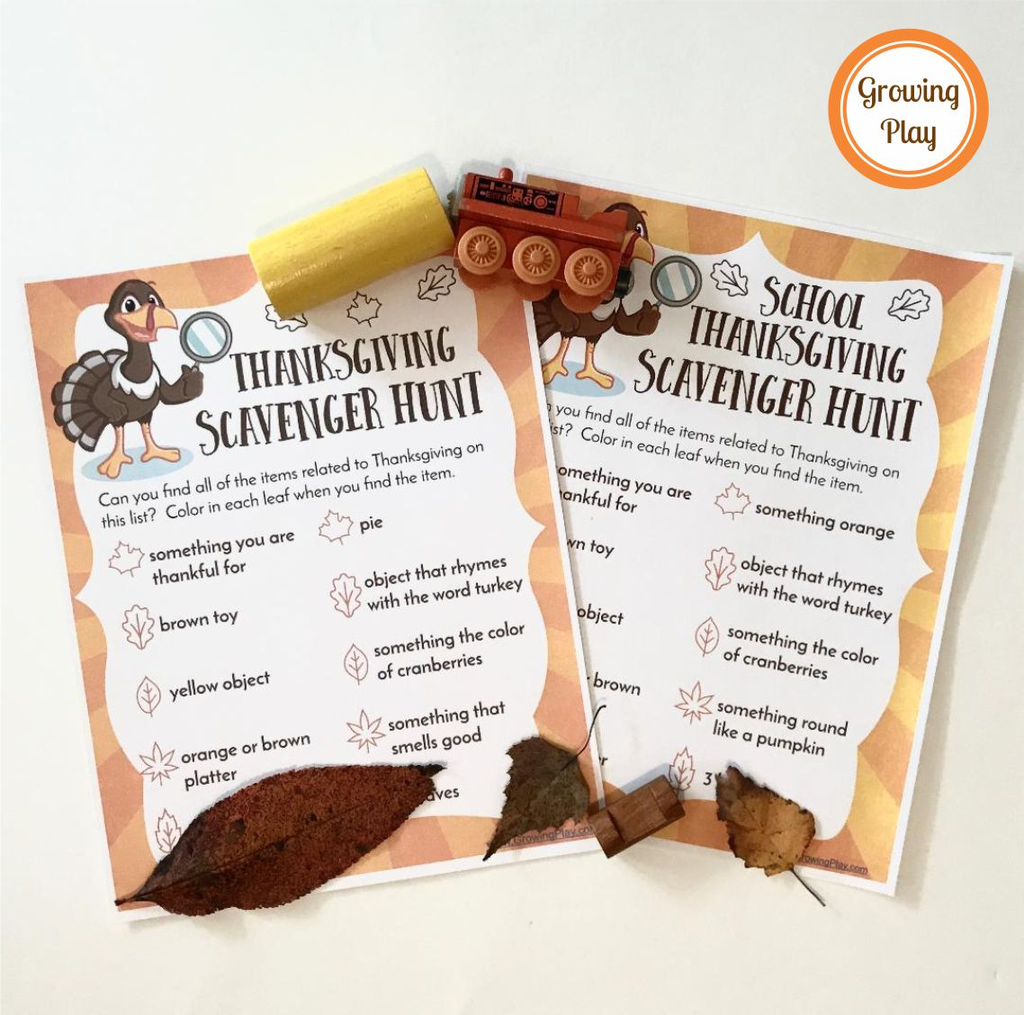 Free Thanksgiving Scavenger Hunts for Home or School