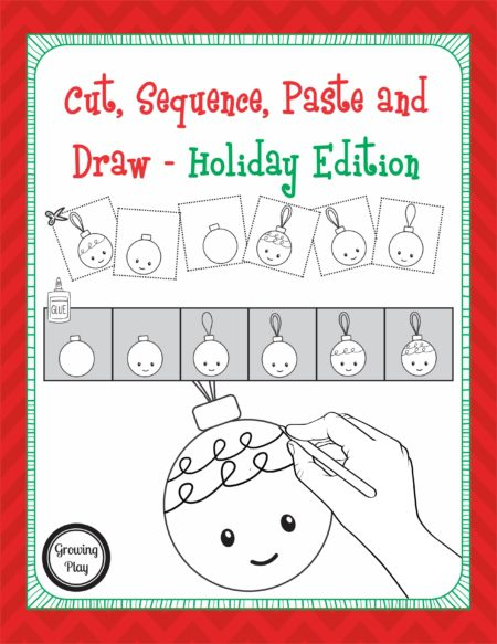 Cut, Sequence, Paste and Draw Holiday