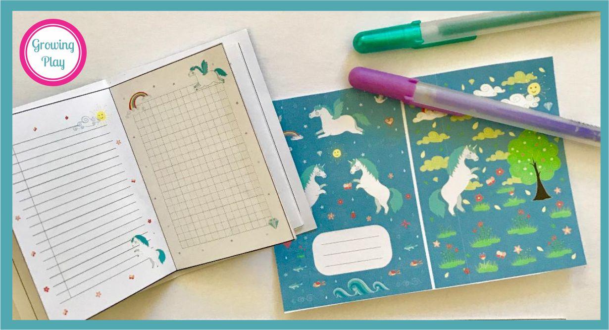 Unicorn Mini Journal Free Printable