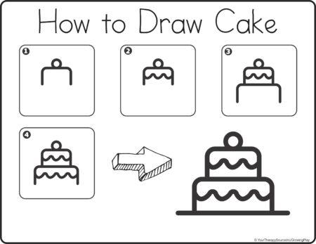 Christmas Crayon Cafe Cake