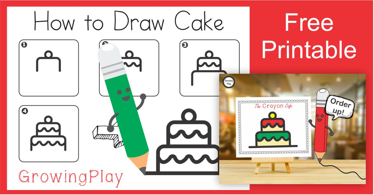 How to Draw a Christmas Cake