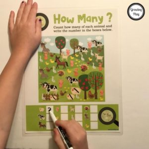 How Many Animals - Visual and Counting Game from GrowingPlay