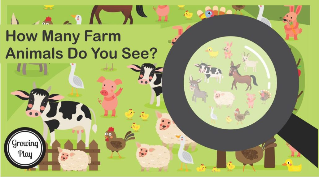 How Many Farm Animals from Growing Play