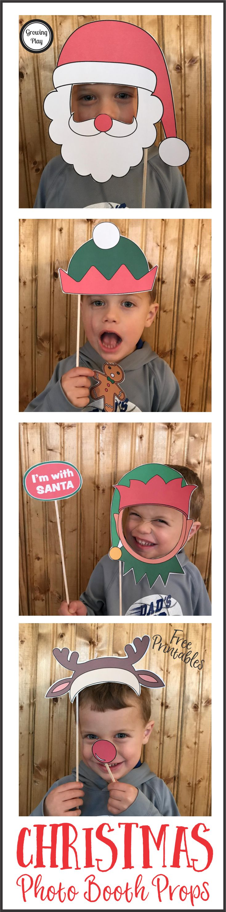 Christmas Photo Booth Props from Growing Play FREE