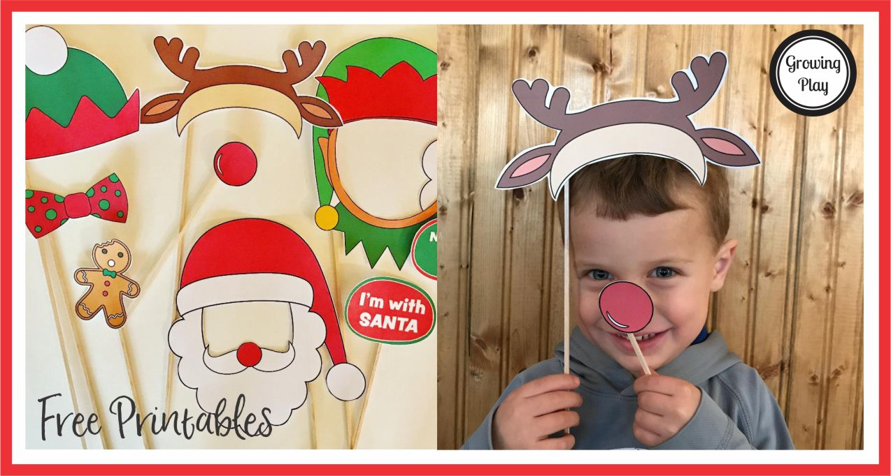 Christmas Photo Booth props from Growing Play