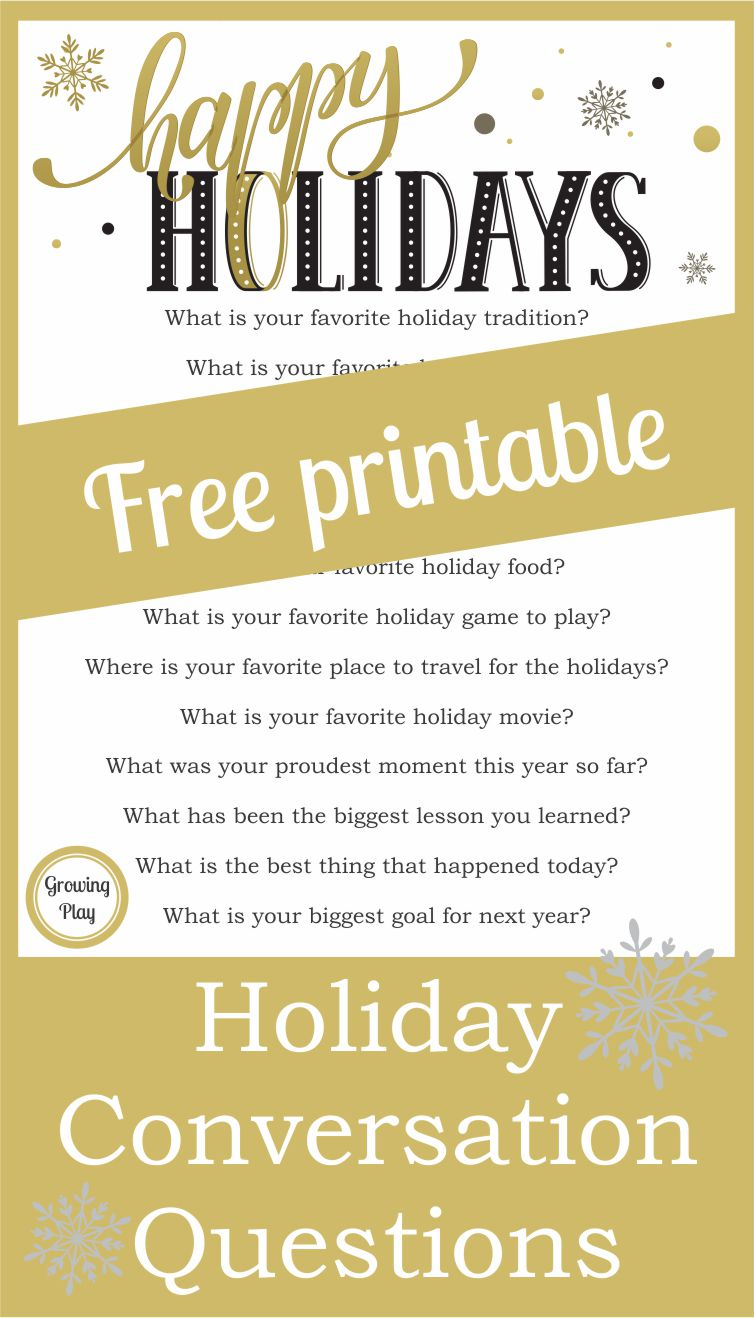 Holiday Conversation Questions