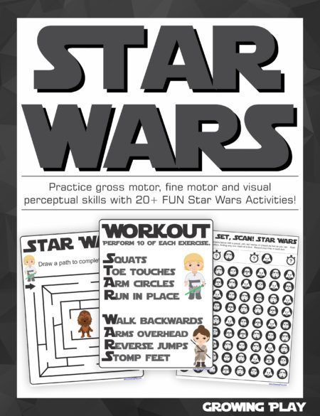 Star Wars Mazes, Games and Activities packet from Growing Play