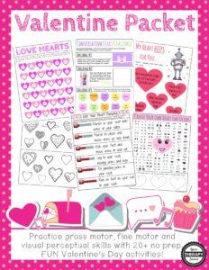 Valentine's Day Packet for Valentine's Parties