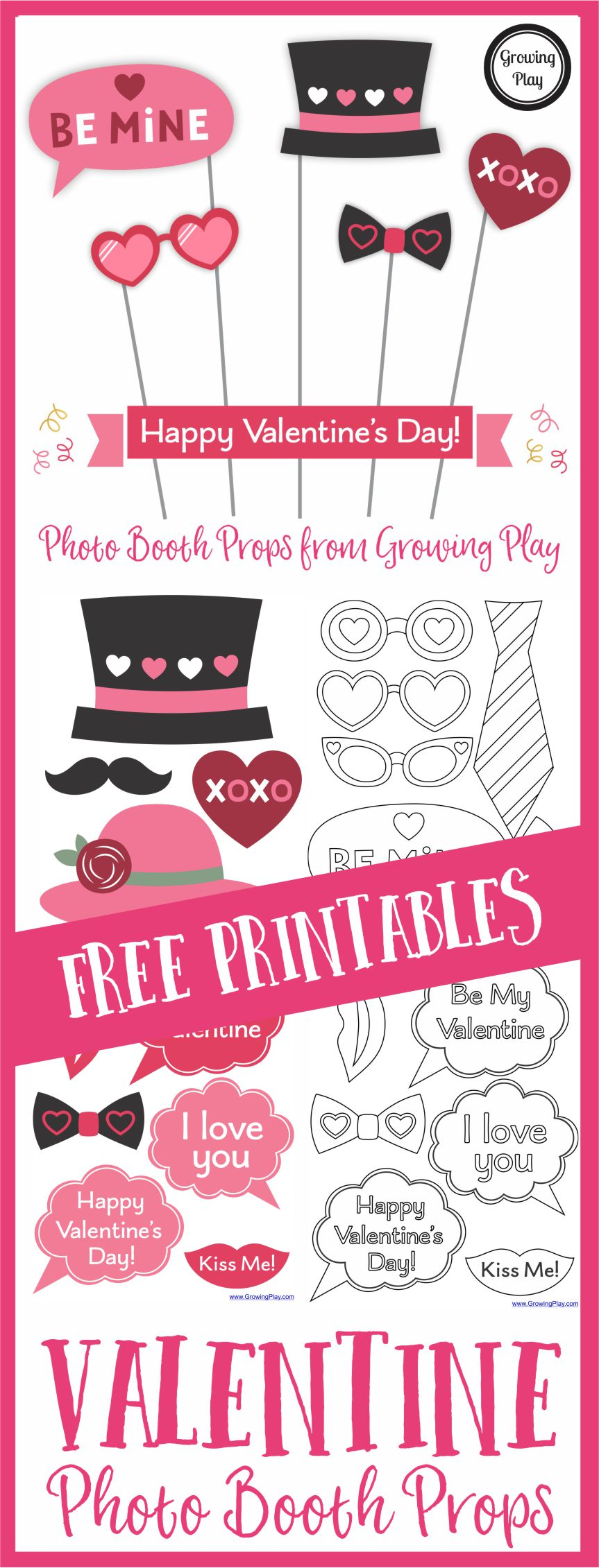 Sign Up To Receive Our Newsletter To Download Your FREE Valentineu0027s Day  Photo Booth Prop.