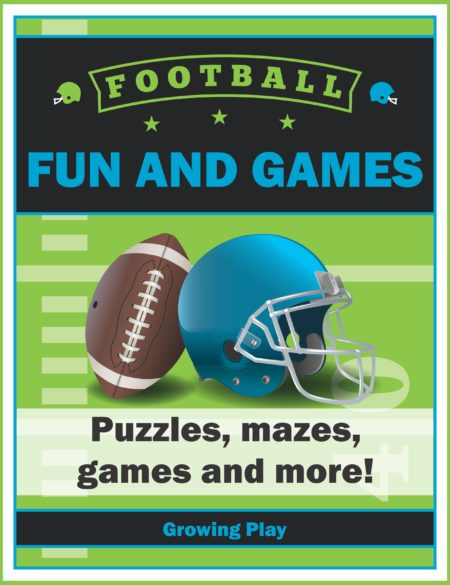 Football Fun and Games Digital Download from Growing Play