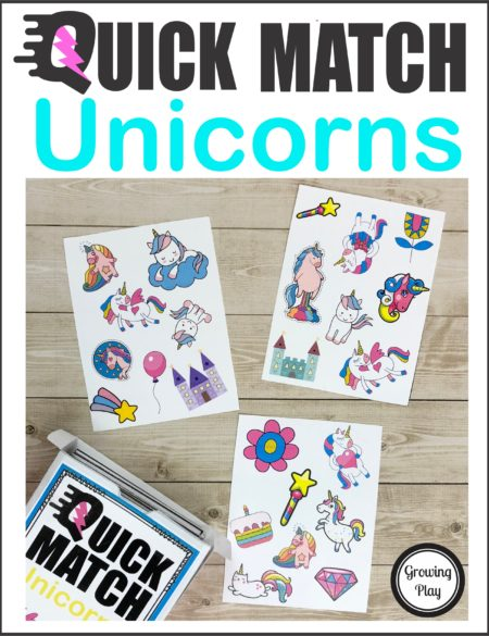 Unicorn Quick Match Card Game