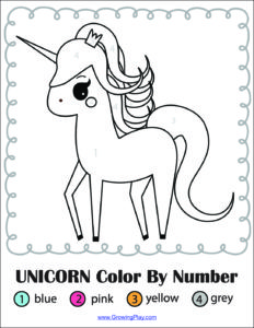 Unicorn-Color-By-Number - Growing Play