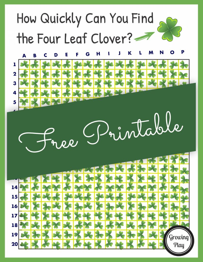 Lucky Shamrock Puzzle - St Patrick's Day Challenge