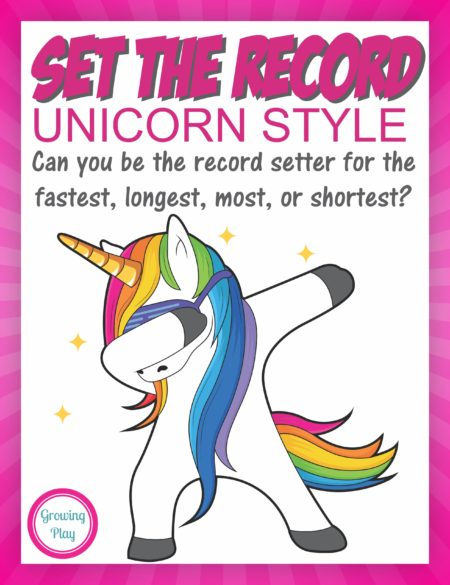 Set the Record Unicorn Style from Growing Play