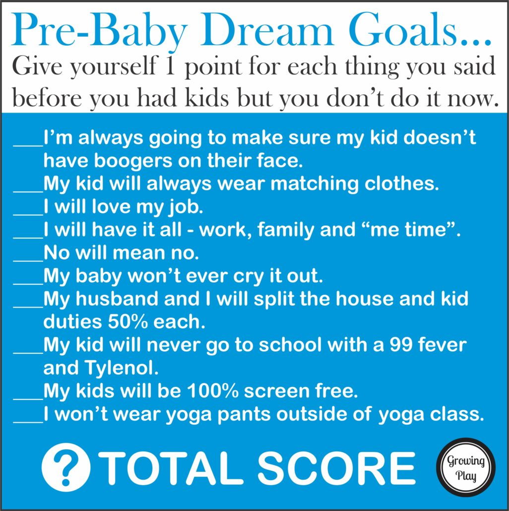 Pre-Baby Dream Goals - How Things Change