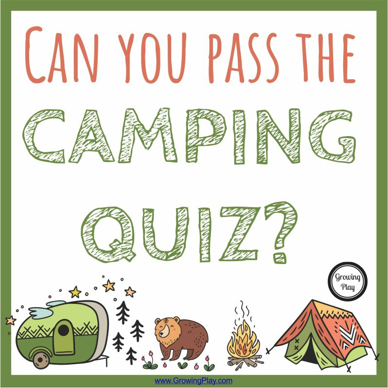 Camping Quiz from Growing Play
