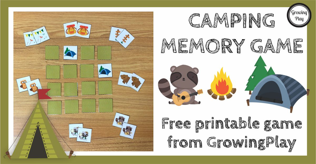 photo regarding Printable Memory Games called Tenting Memory Video game - Cost-free Tenting Activity in the direction of Print and Perform