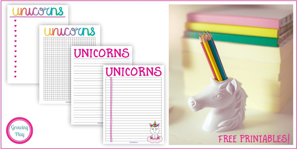 Fun Unicorn Writing Paper - Free Printables
