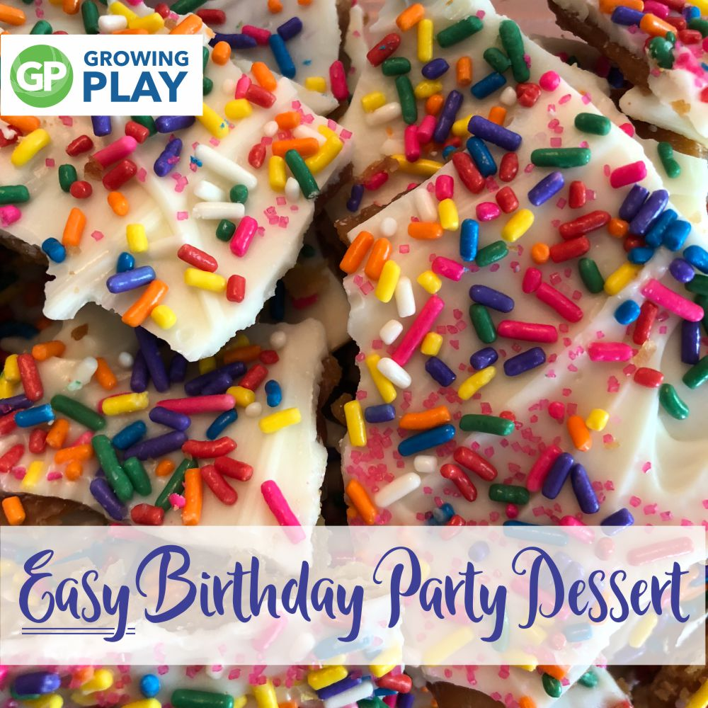 tried this super EASY birthday party dessert that everyone loves - Birthday Bark!