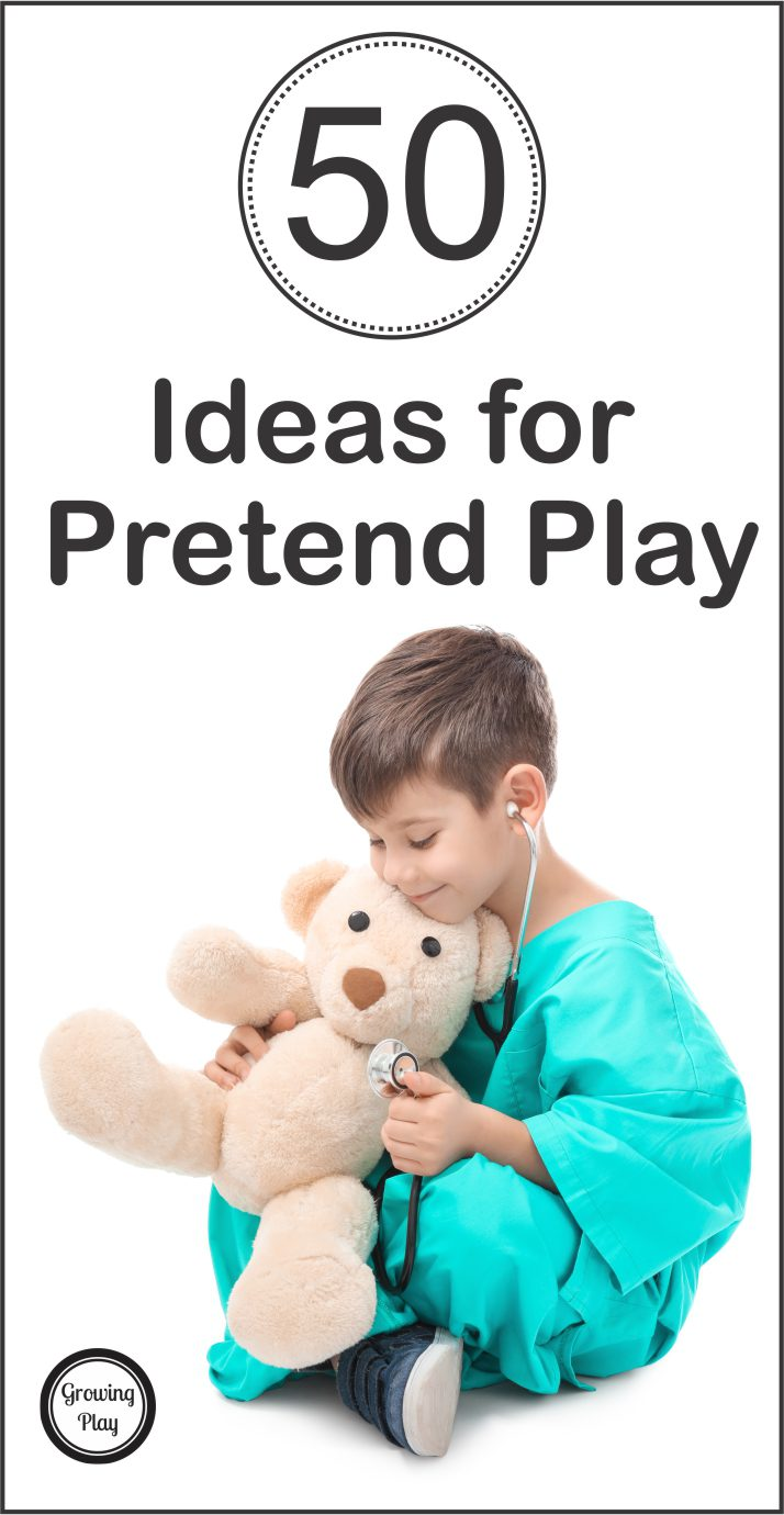 Do your children love to play pretend? Pretend play activities can provide children with excellent opportunities to develop their cognitive, emotional, social, motor and creativity skills. Here is a list of 50 ideas for pretend play.