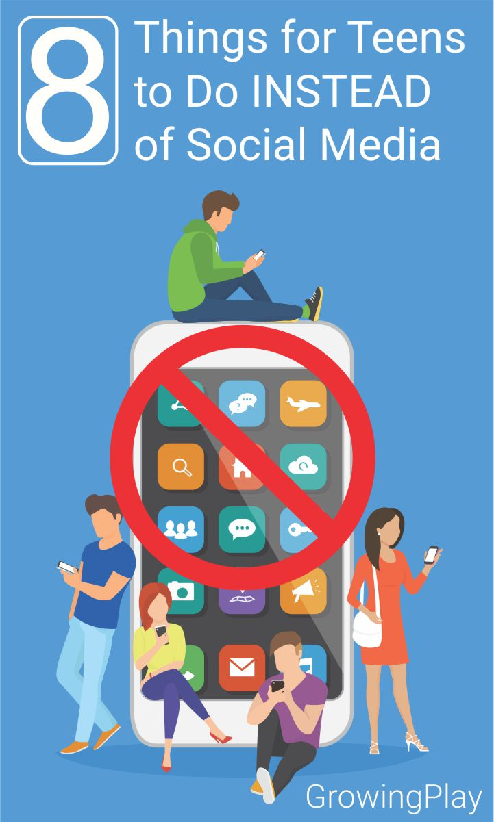 Social media for developing brains and changing hormones is a bad combination.  Here are 8 things tweens and teens can do INSTEAD of social media.