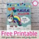 Are you looking for a super cute, FREE printable unicorn birthday invitation?  Well, look no further because this one is FREE and you can even EDIT it.