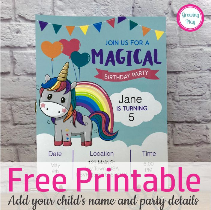 graphic relating to Free Printable Unicorn Invitations named Totally free Printable Unicorn Birthday Invitation - Yourself Can Even