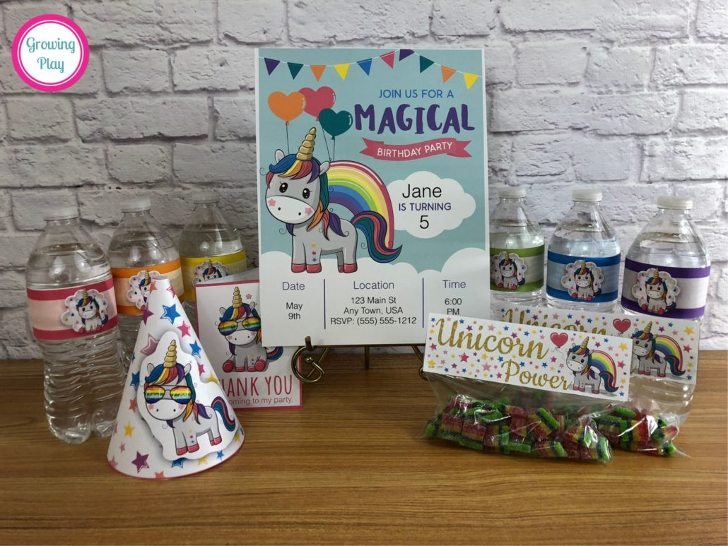 Unicorn Party Printables Pack