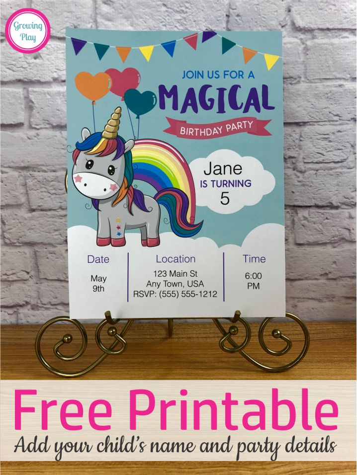 Free printable unicorn birthday invitation you can even edit it are you looking for a super cute free printable unicorn birthday invitation well filmwisefo