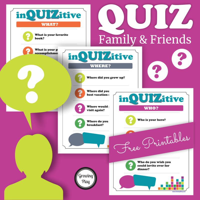 Do you ever find yourself wondering about your friends and family?  What do they like or dislike?  Where would they like to travel?  Who do they admire?  Here are 3 FREE pages of questions to ask friends and family.  You can download it at the end of this post.