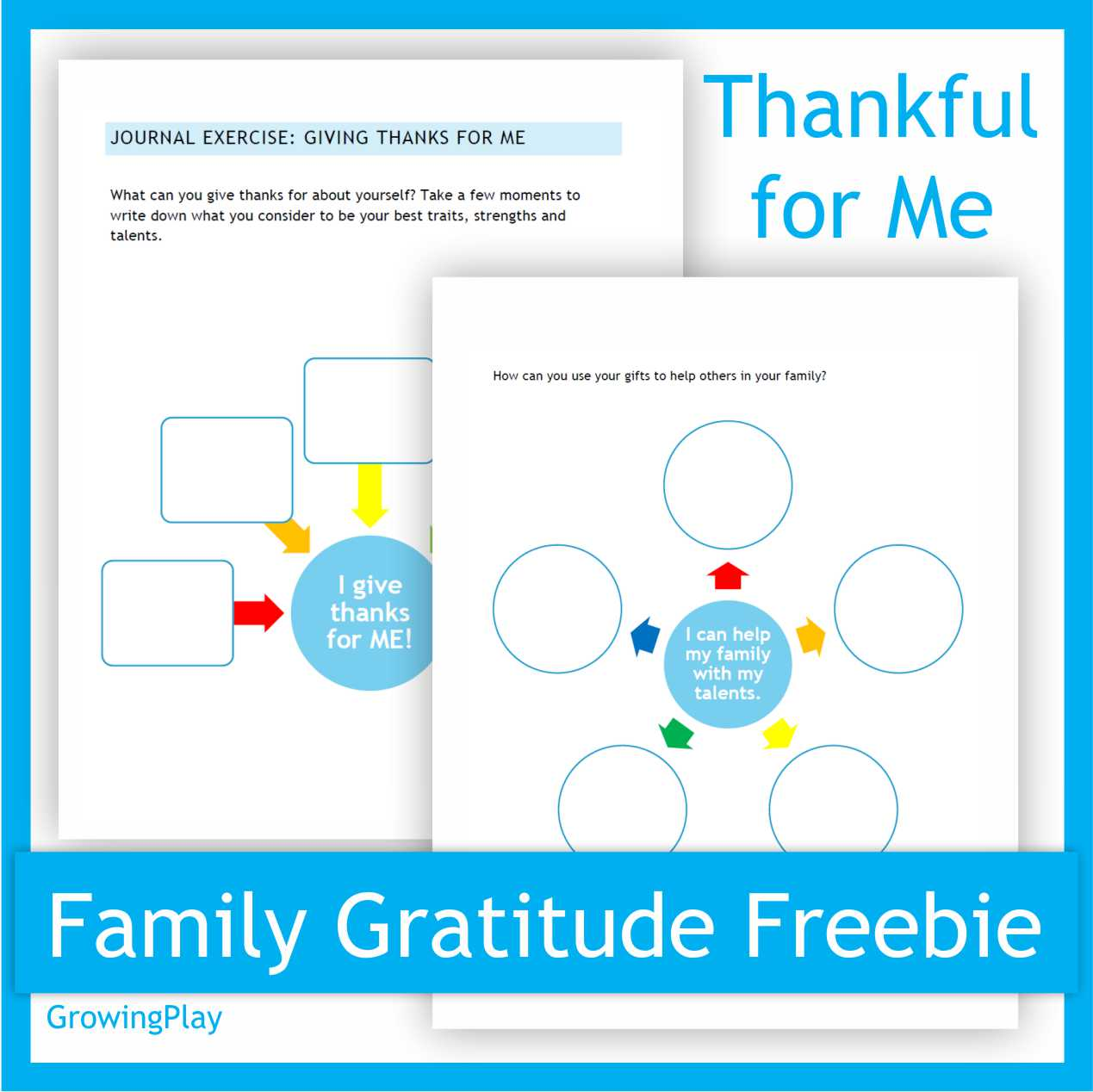 We are taking on the Family Gratitude Challenge to improve our family bond and to be grateful for all that we have.  The first lesson is titled Thankful for Me.