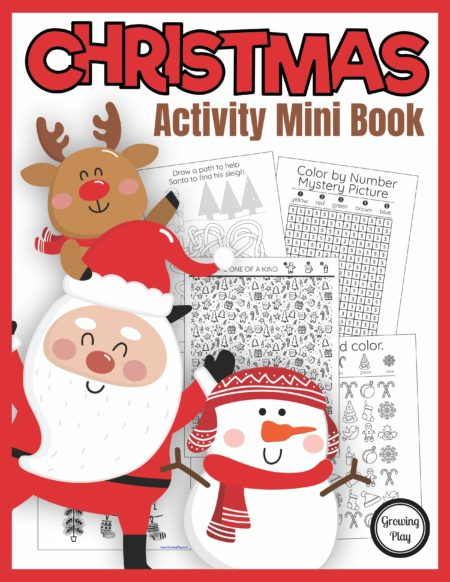 The Christmas Activity Book digital download includes super FUN puzzles, coloring pages, and mazes to entertain the kids this holiday season.  No prep needed - just print and play!
