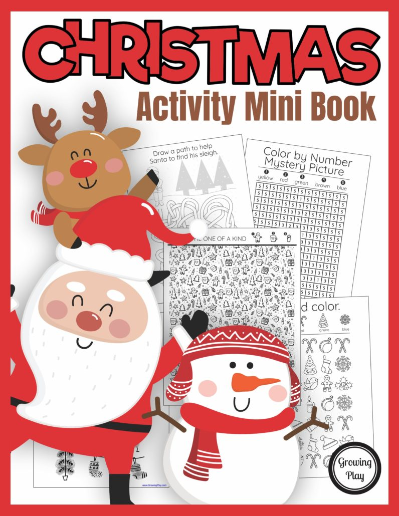 The Christmas Activity Book digital download includes super FUN puzzles, coloring pages,and mazes to entertain the kids this holiday season. No prep needed - just print and play!