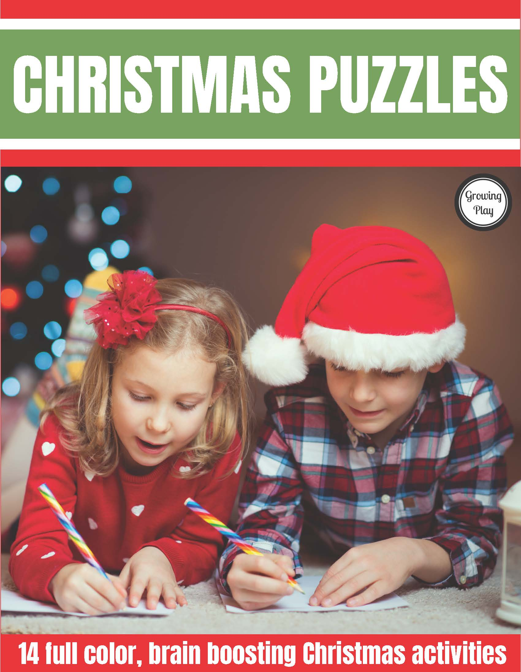 The Christmas Puzzles Packet includes full color, brain boosting, FUN Christmas activities to complete.  Look and find challenges, mazes, puzzles and more all for when the kids need some extra entertainment this holiday season.