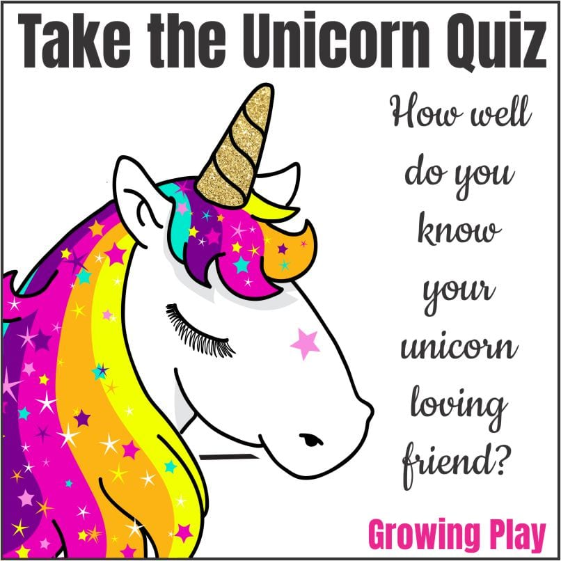 Are you ready to take the unicorn quiz?  Everybody loves a good quiz right?  Well, this one is meant to determine how well your know your friend.  It is perfect for a unicorn sleepover party, unicorn birthday party or anytime you are just hanging out.
