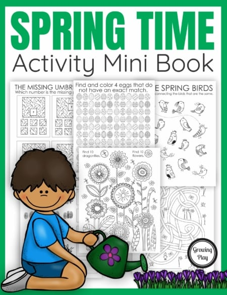 The Spring Puzzle Book digital download includes puzzles. mazes, and more all with a fun Spring theme.  No prep needed – just print and play!  Perfect for when the kids unplug, indoor recess, early finishers, morning work or anytime!  The activity book is in black and white for economical printing.