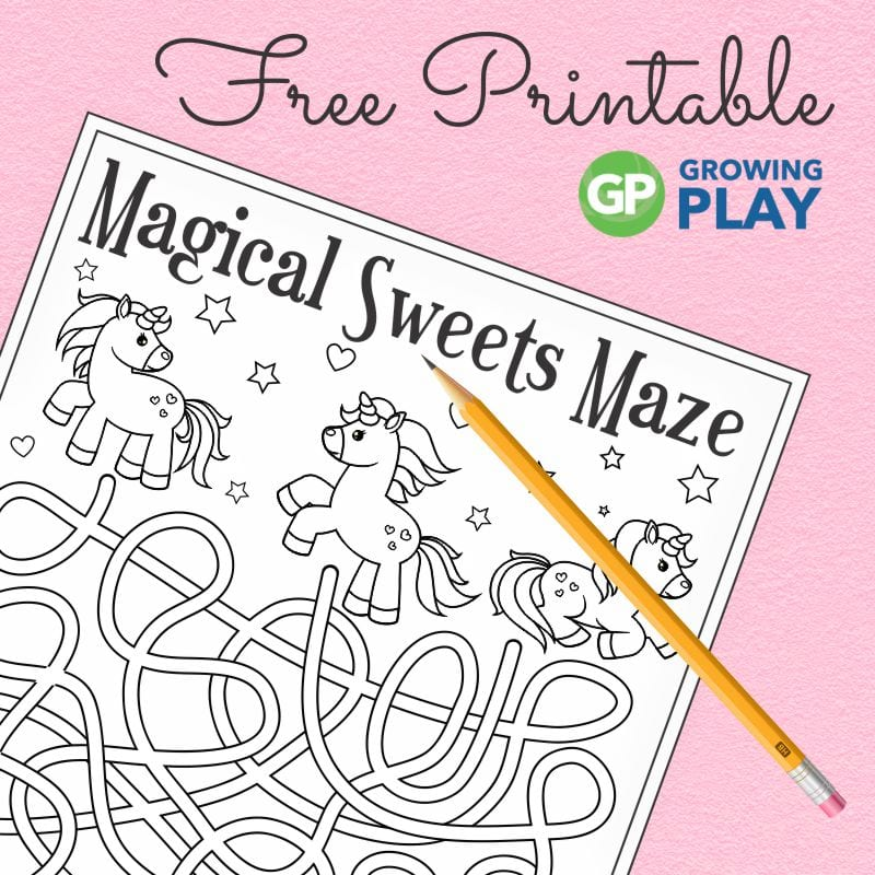 photo relating to Free Unicorn Printable named Unicorn Maze - Printable and No cost! - Developing Enjoy