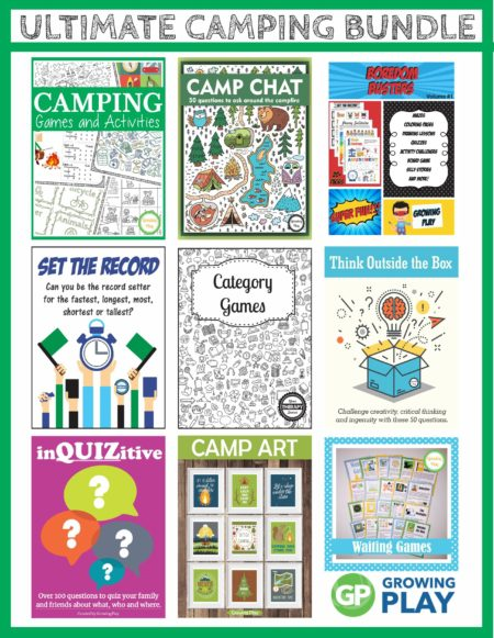 Do you love to camp with your family?  This Camping Ideas for Families bundle includes games and puzzles that are super fun to entertain children of all ages.