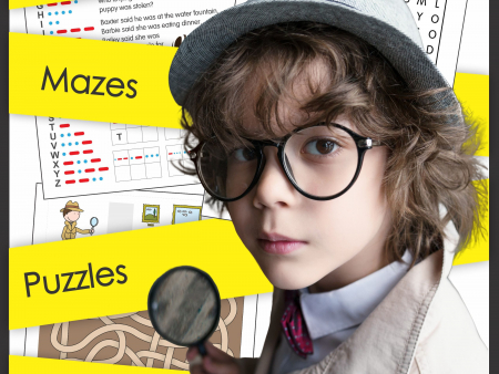 Solve the mysteries, remember the details, go on a scavenger hunt and more with this Detective Puzzle Pack.