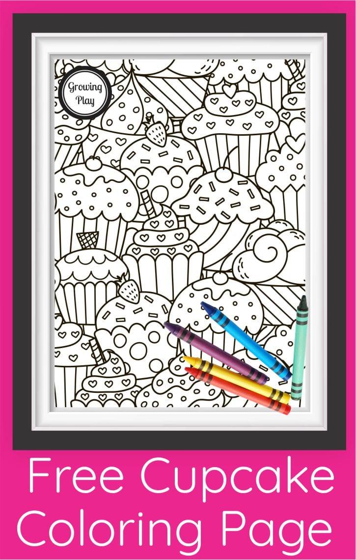 Cute Cupcake Coloring Page Pdf Free Printable Growing Play