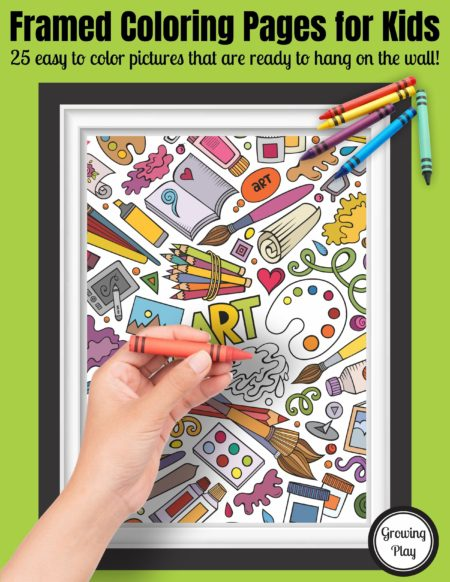 The amazing collection of Framed Coloring Pages for Kids includes 25 easy to color prints of all different themes. Print and color!