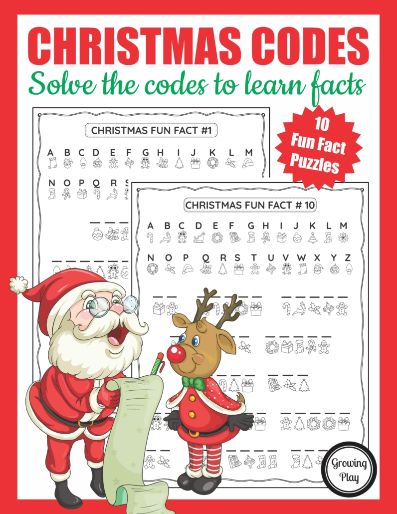 This Christmas Crack the Code packet is perfect for puzzle loving kids. The digital download includes 10 secret codes to crack to reveal fun and interesting facts about Christmas time.