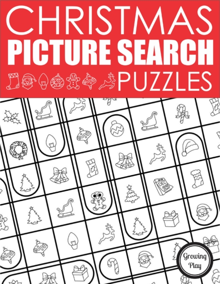 This is a unique Christmas word search for kids without words puzzle packet. Instead of words to find, kids have to find pictures in a certain order.