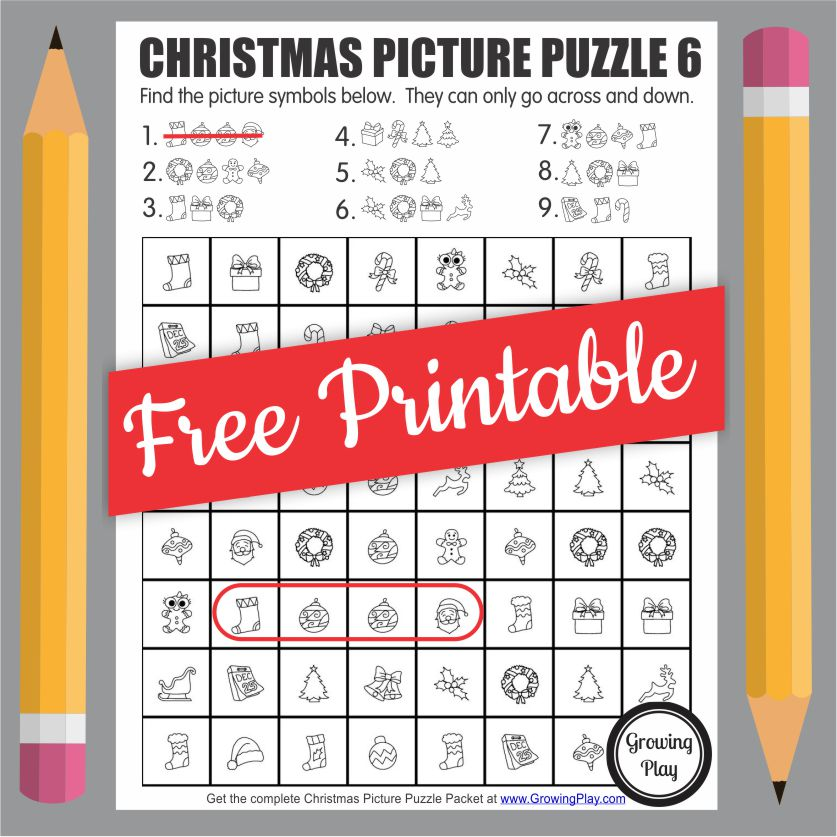 Are you confused about getting a free Christmas word search PDF but without any words? There are no words because it is a picture puzzler!