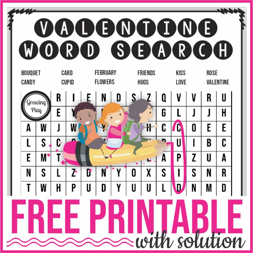 Are you looking for a valentine word search printable?  Check out this FREE puzzle that you can download at the end of this post.