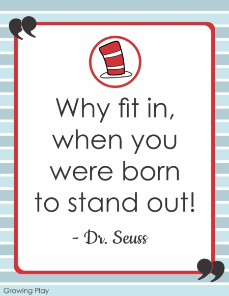 The Dr. Seuss Word Search Packet includes 10 inspirational quotes to seek and find.  Children will be inspired by Dr. Seuss' wise words while they challenge their visual perceptual skills. You will also receive 10 posters of the motivational quotes to display.