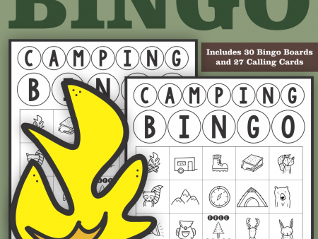 The Camping Bingo PDF printable game is so much fun for your camping theme classroom, summer camp bingo or anytime for your whole class or a large group.