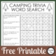 This Camping Trivia puzzle is part trivia, part crossword puzzle and part word search! Puzzles like this make me happy. Free from Growing Play.