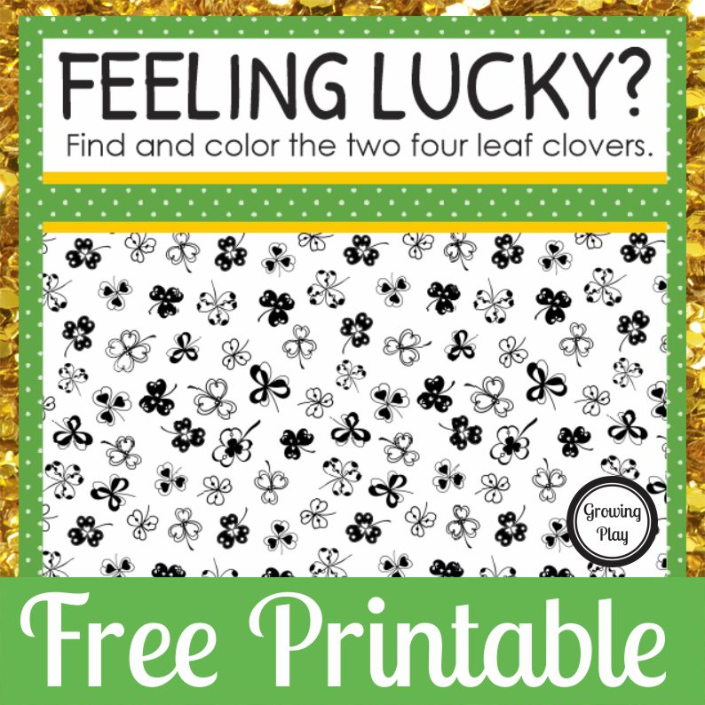 Are you feeling lucky? How quickly can you find and color the two hidden four leaf clovers in this find the hidden shamrock worksheet? You can download it for free
