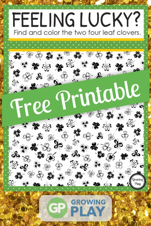 How quickly can you find and color the two hidden four leaf clovers in this find the hidden shamrock worksheet?  You can download it for free
